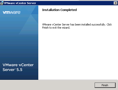 vCenter Server installation Step 19