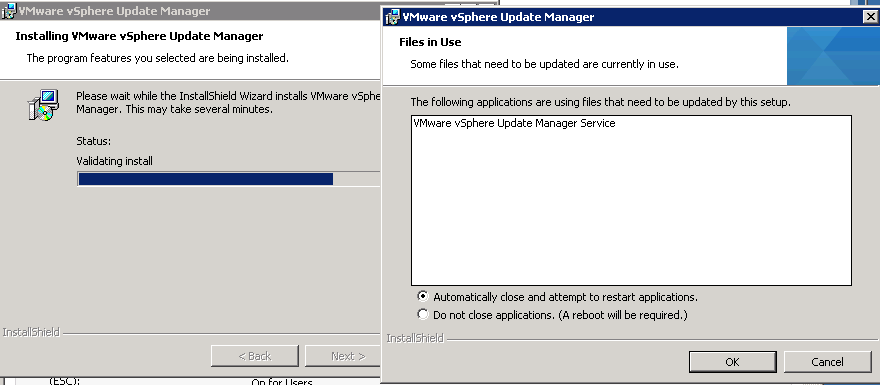 vCenter Update Manager installation Step 13
