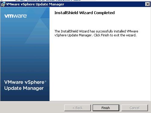 vCenter Update Manager installation Step 14