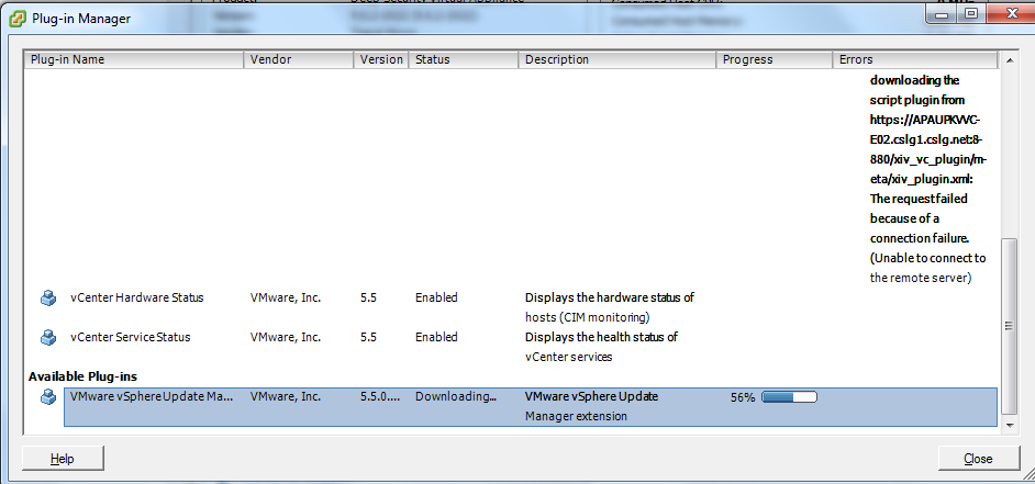 vCenter Update Manager installation Step 15