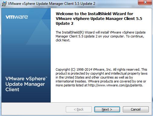 vCenter Update Manager installation Step 17