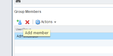 vSphere Web Client SSO Add Member