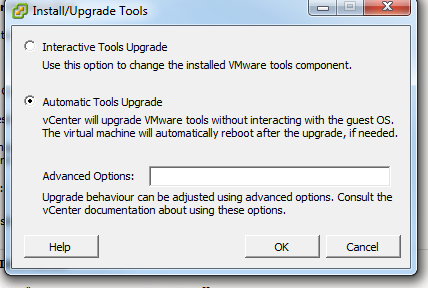 Upgrade VMware Tools Upgrade