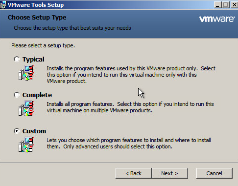 Upgrade VMware Tools Step 5