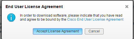 UCSD Bare Metal Upgrade Download license agreement