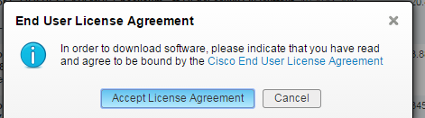 UCS Director Software Download license agreement