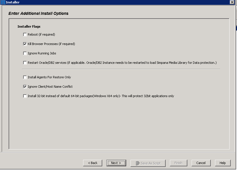 snapProtect-upgrade step 20d