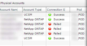 Netapp connection fail UCS Director