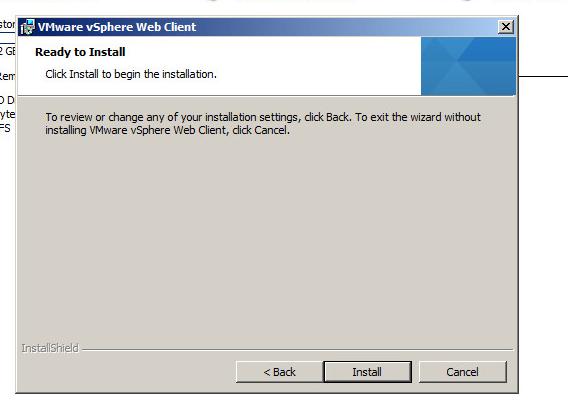 vsphere web client install
